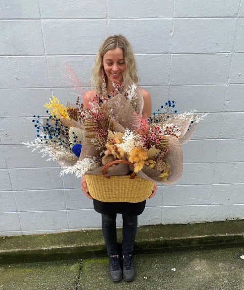 Jacque from Fifth Avenue Florist with another beautiful bunch of flowers.